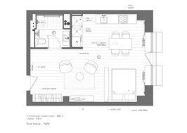 Floor Plan Of An Apartment 3 Studio Apartments Under 50sqm For City Dwelling Couples