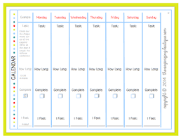 printable weekly calendar template print out calendar