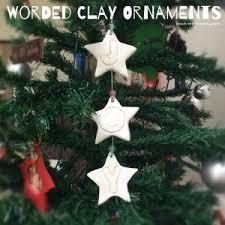 worded clay ornaments teach me