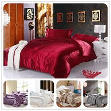 Wine Colored Bedding Sets King Silk Bedding Quilt Duvet Cover Sets Wine