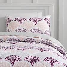 Pottery Barn College Bedding Feather Scallop Value Comforter Set With Sheets Pillowcase