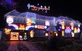 Christmas Decorated Houses Let It Glow Sparkling Christmas Light Displays On Uk Home