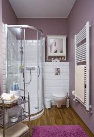 small shower ideas for small bathroom small bathroom ideas corner shower cabin white wall tiles purple