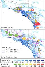 Santa Ana California Map Identification Of Two Distinct Fire Regimes In Southern California