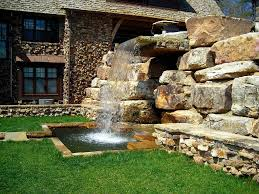 waterfall design for home in house garden waterfall design simple