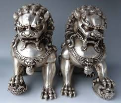 japanese guard dog statues promotion cheap antiques bronze large
