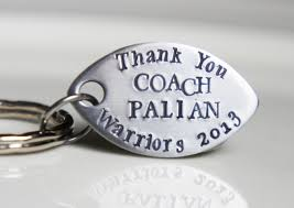 Engraved Football Gifts Football Keychain Personalized Coach By Rivervalleyjewelry On Etsy