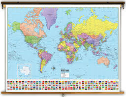 world map political with country names advanced classroom maps from kappa maps