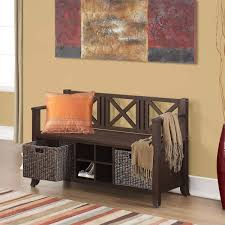 Red Entryway Bench by Ottomans U0026 Benches Costco
