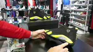 retro ferrari shoes nike air jordan 14 retro thunder 14 black vibrant yellow