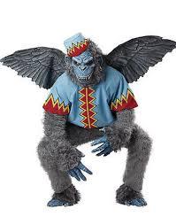 mens evil winged monkey flying chimp wizard of oz halloween