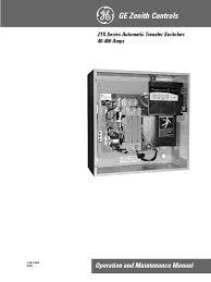 manual ats zenith switch electric generator