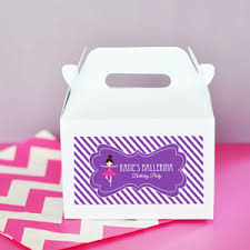 Birthday Favor Boxes by Mod Kid S Birthday Mini Gable Boxes Set Of 12 Favor Boxes