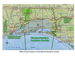 South Walton Florida Map by Choctawhatchee Audubon Society Bird Hub