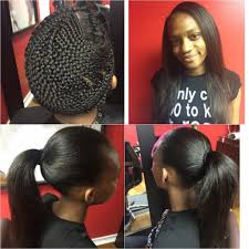 no part weave hairstyles nynystyles great sew in and that braid pattern is no joke black
