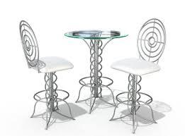 modern pub table set 3d modern bistro table set cgtrader