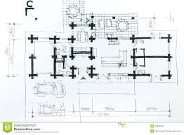 house plan sketch stock illustration image 39498105