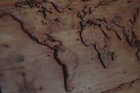 map of the world in wood by gremlinztattoo on deviantart