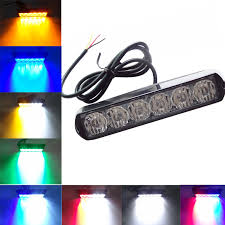 red and white led emergency lights 2017 car styling 6 led emergency strobe flash warning lights 12v 24v