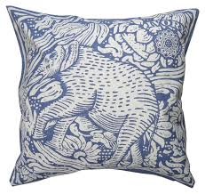 decor smith bombay elephant pillow in blue and white for living