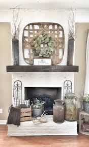 painted white brick fireplace fixer upper style ig