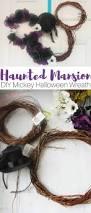 halloween wreaths diy haunted mansion diy mickey halloween wreath sugar spice and
