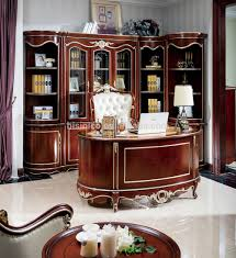 Antique Home Office Furniture Baroque Style Luxury Executive Office Desk European