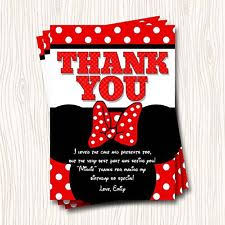 minnie mouse thank you cards minnie mouse thank you greeting cards ebay