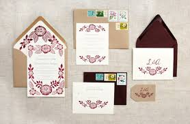 printed wedding invitations arman s floral block printed wedding invitations