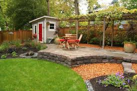 grape vine trellis landscape traditional with backyard