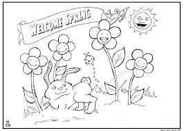 spring coloring sheets spring coloring pages kid 01