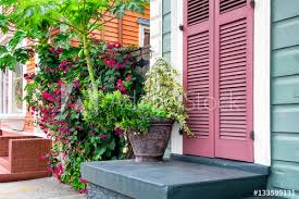 new orleans colorful houses new orleans colorful houses and lush tropical plants buy this
