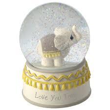 baptism snow globes precious moments you tons elephant musical snow globe snow