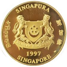 year of the ox 1997 singapore gold lunar series 1997 year of the ox 1 oz