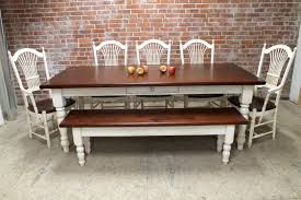white dining table with bench