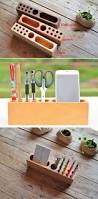 Wood Desk Accessories by Best 25 Wooden Desk Organizer Ideas On Pinterest Desktop