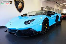lamborghini aventador lights for sale smurf blue aventador roadster 50th anniversary for sale in