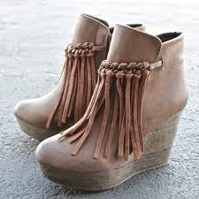 womens fringe boots size 11 sbicca vintage collection zepp wedge fringe ankle bootie more