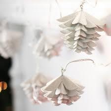 pinecone garland white washed tin pinecone garland christmas garlands christmas