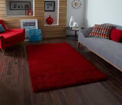 modern plain shaggy 5cm pile rug vista machine made large fluffy