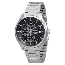 watches chronograph amazon com seiko quartz chronograph gents seiko watches