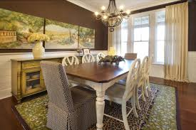 decorations classic antique farmhouse dining room interior with