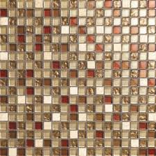 cream white red gold silver stone u0026 glass mix mosaic wall tiles