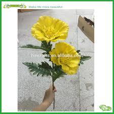 artificial white poppy flower artificial white poppy flower