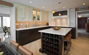kitchen table with built in wine rack diagonal wood floors kitchen contemporary with flooring gray