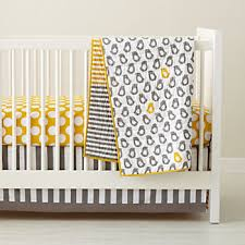 Navy And Yellow Bedding Crib Bedding The Land Of Nod