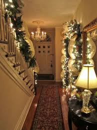 Christmas Banister Garland Ideas Decorating Beautiful Minimalist Interior Hallway Design In Cool