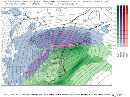 Snow Map Usa by Groundhog Day Storm Could Drop 6 Inches Of Snow On N J Map
