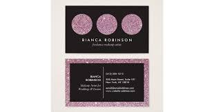 freelance makeup artist business card pink glitter palette for freelance makeup artist business card