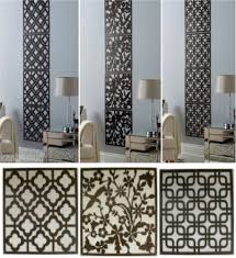 details about 4pc contemporary wood effect hanging wall art cut